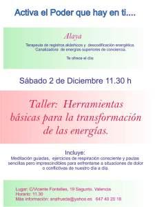 Meditacion Taller Sabado 2Dic17