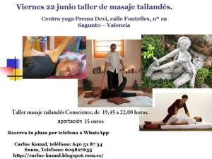 Taller MASAJE TAILANDES 22Junio18